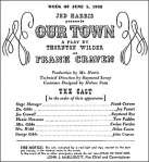 A playbill title page of Our Town