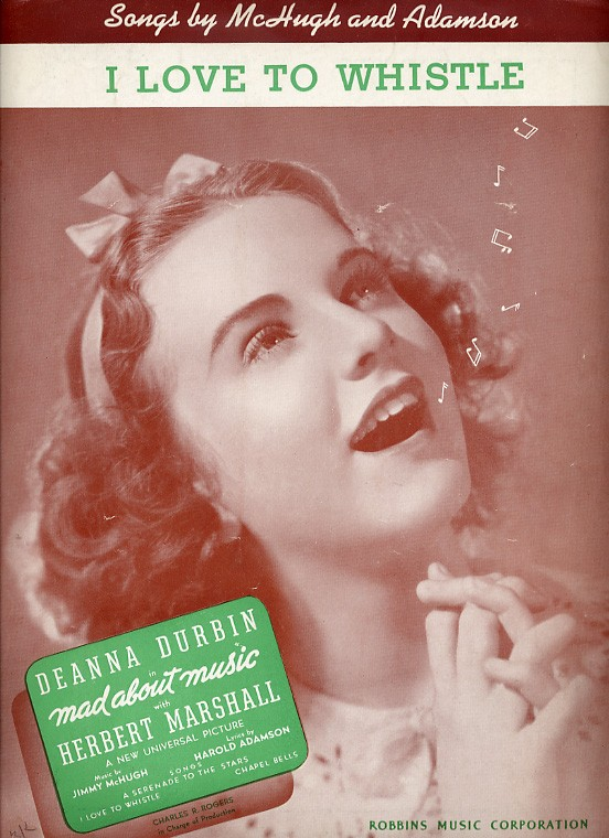 "Deanna Durbin Sheet music for ""I Love to Whistle"""