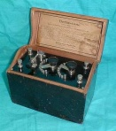 A small crystal radio set.
