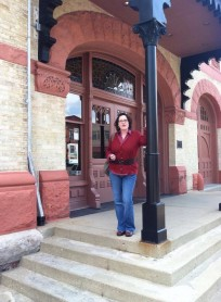 In front of the Woostock Opera House, May 2014